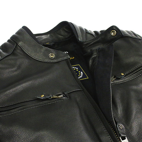 Sol Leather Riding Jacket - Black