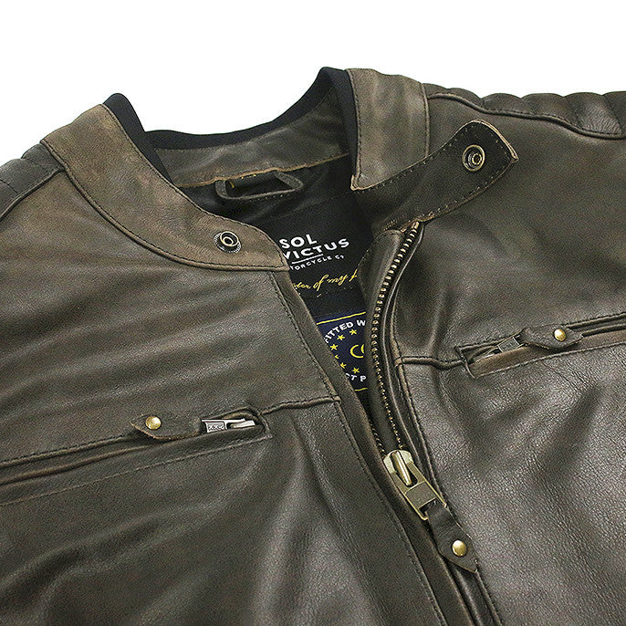Sol Leather Riding Jacket - Brown