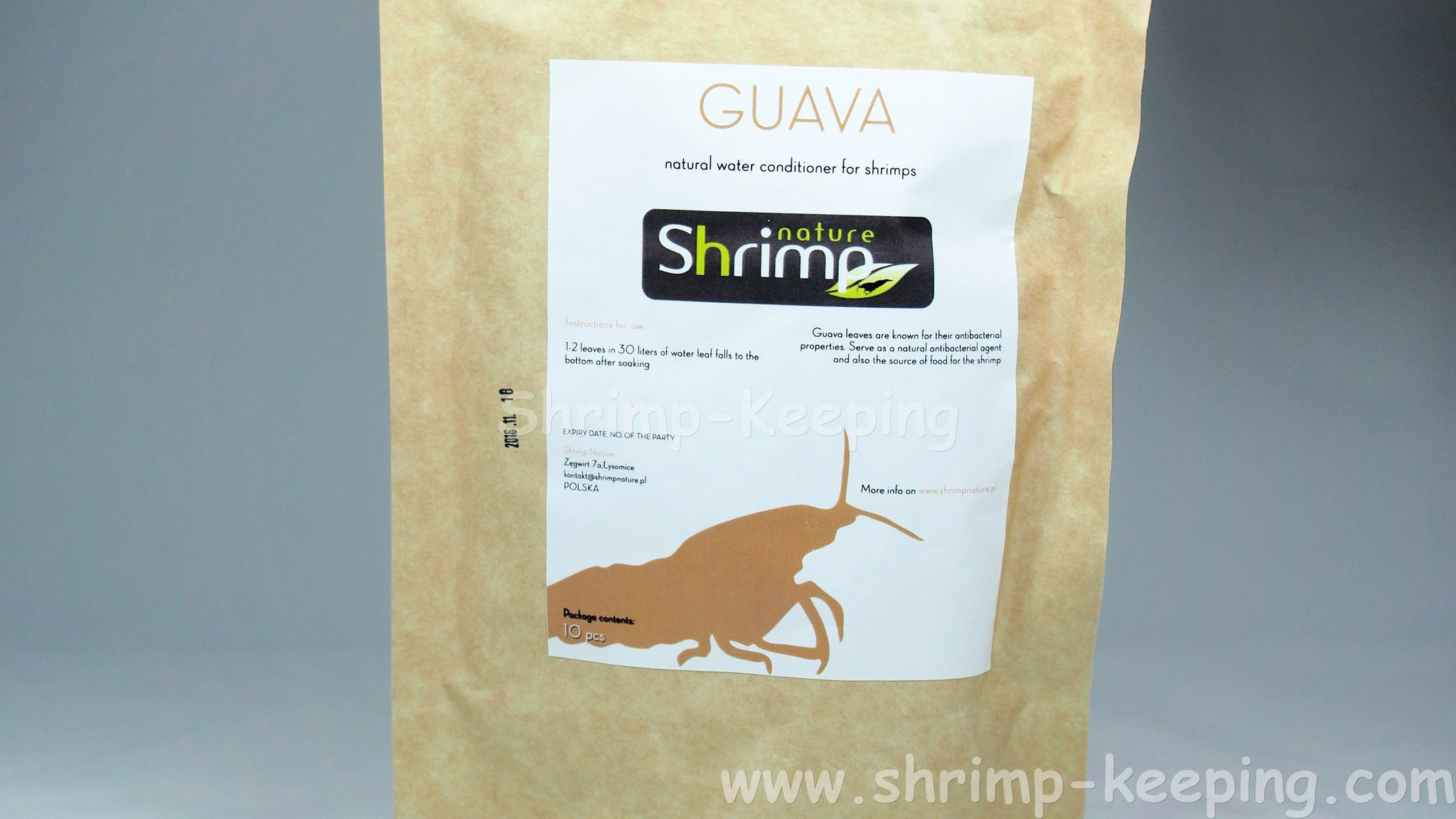shrimp nature guava leaves