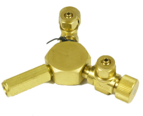 brass co2 brass 2way splitter