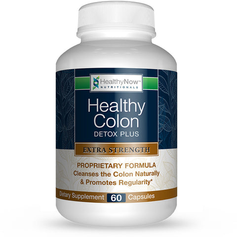Healthy Colon Detox Plus -  Clinical Strength Cleanse & Constipation Relief Formula. Gentle. Effective. Guaranteed. - 60 Veg Caps