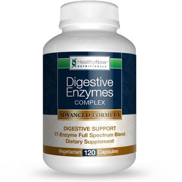 Best Digestive Enzymes Supplement - 120 Veg. Caps - Multi-enzyme Advantage - 17 Enzymes for Optimal Digestion of Proteins, Carbs & Fats