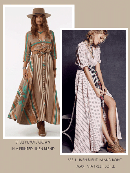 Spell Printed Gowns
