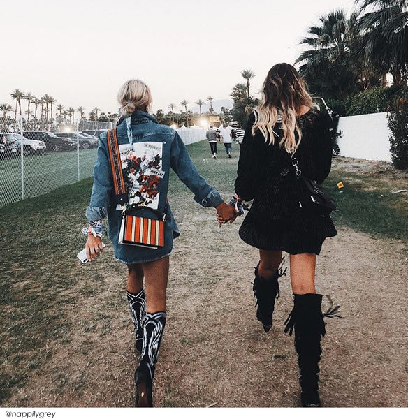 Walking at Coachella