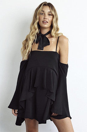 Shona Joy CASSIOPEA LAYERED FRILL MINI DRESS