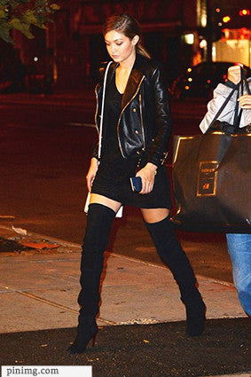 Mini Dress with Knee-high Boots
