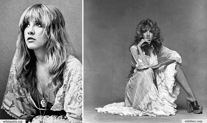 Stevie Nicks and Lace Dresses