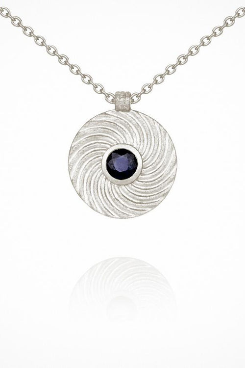 Temple Of The Sun | Shine Necklace - Sapphire Silver