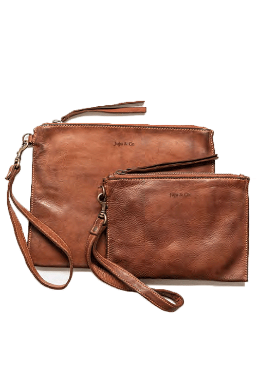 Flat Pouch Small - Cognac