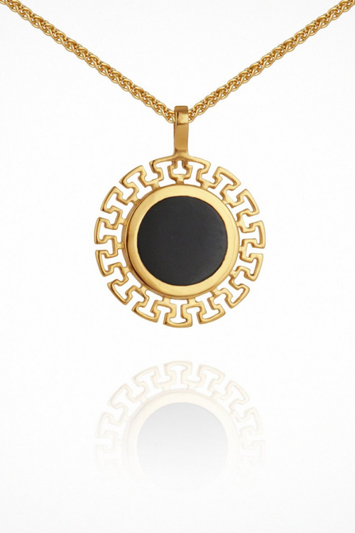Temple Of The Sun | Kosmos Necklace - Onyx Gold