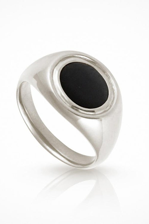 Temple Of The Sun | Kosmos Ring - Onyx Silver