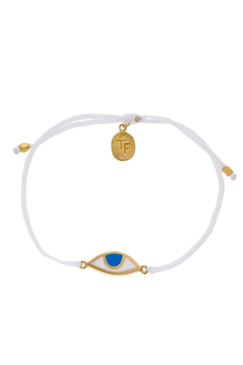 Eye Protection Bracelet - White - Gold