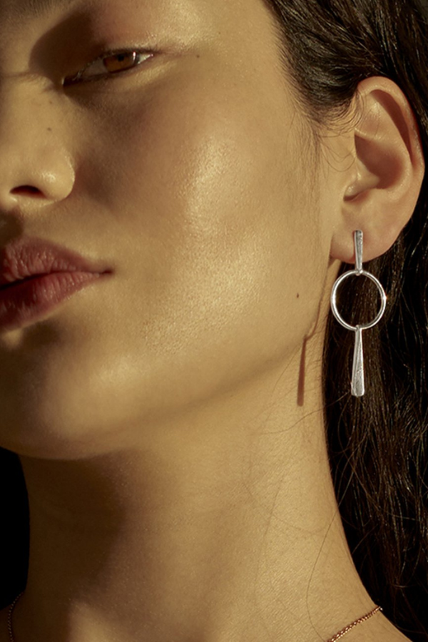 Temple Of The Sun | Iola Earrings - Silver