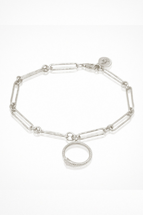 Temple Of The Sun | Serpent Charm Bracelet - Silver