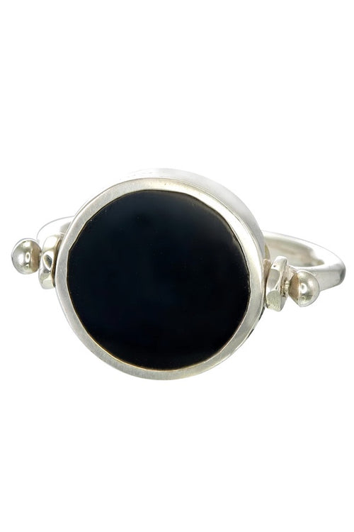 Eclipse  Swivel Ring - Black and Silver