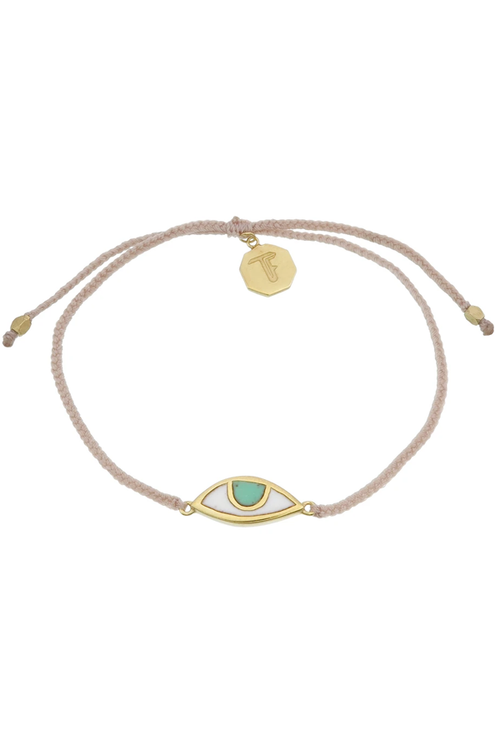 Eye Protection Bracelet - Pale Pink - Gold
