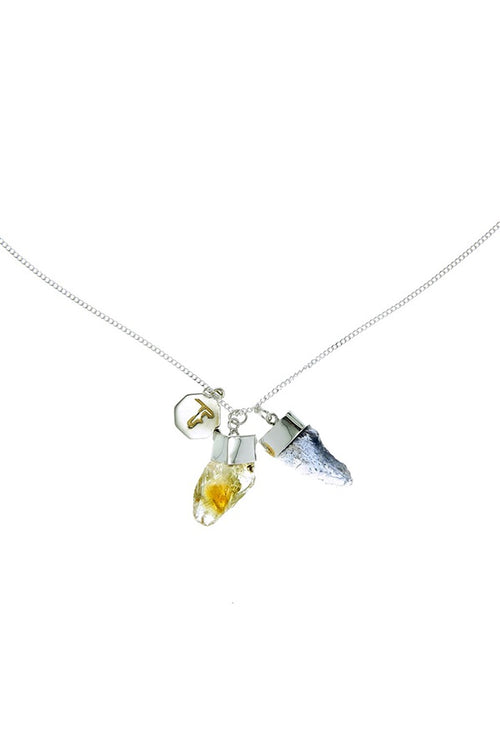 Tiger Frame Jewellery Superpower Charm Necklace - Citrine and Iolite