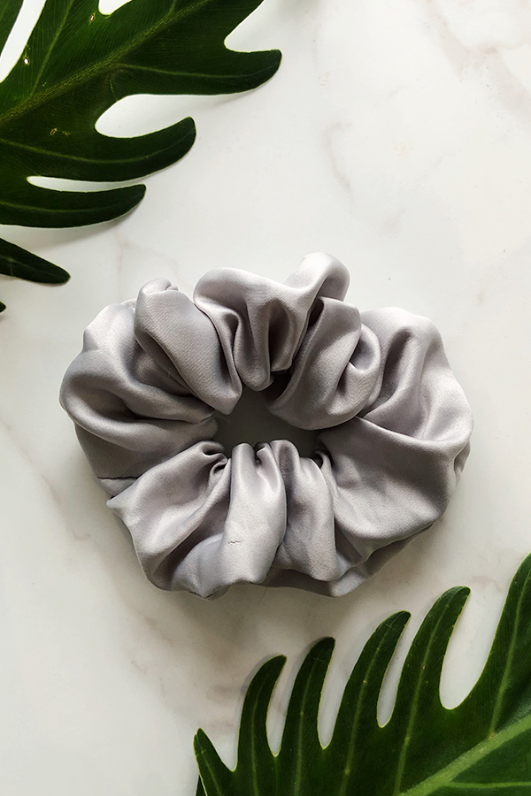 Dove Grey Sleep Scrunchie