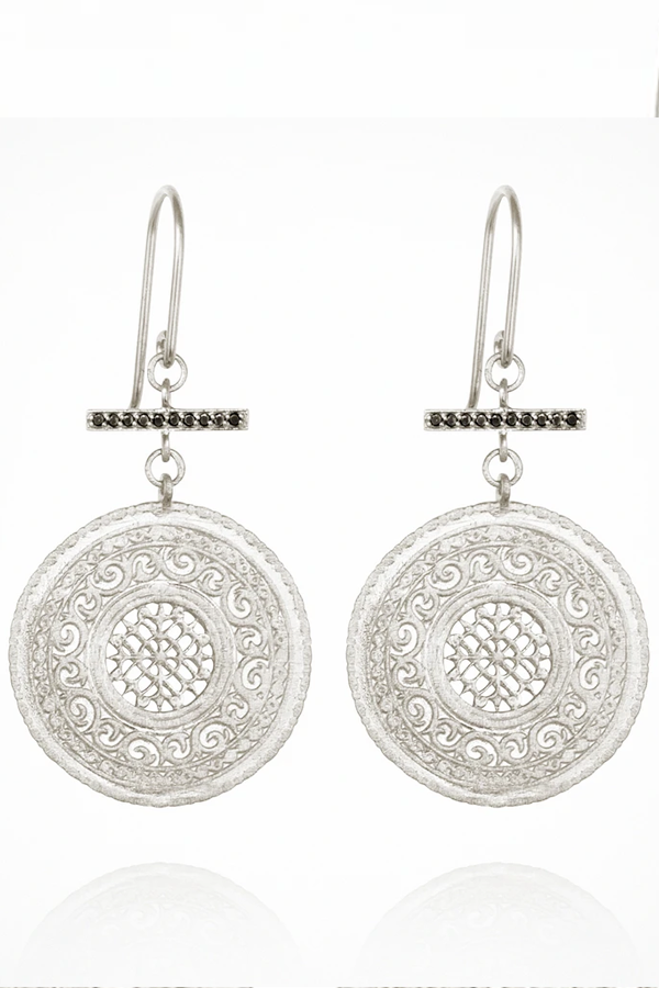 Temple of The Sun | Selma Earrings - Silver