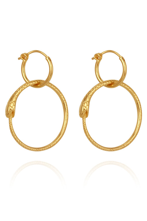 Serpent Earrings - Gold