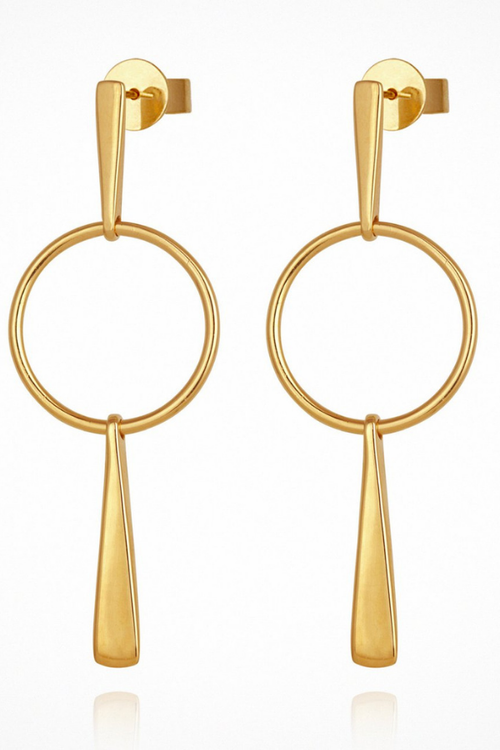 Temple Of The Sun | Iola Earrings - Gold
