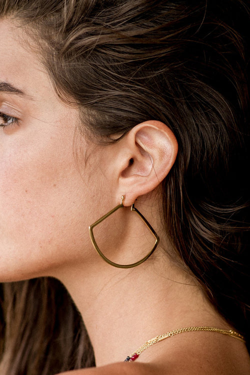 Temple Of The Sun | Aya Earrings - Gold