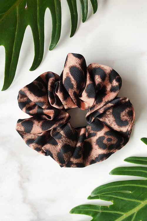 Feline Satin Scrunchie