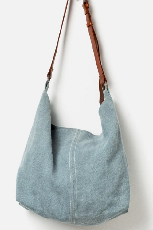 Beach Jute Slouchy Bag - French Blue