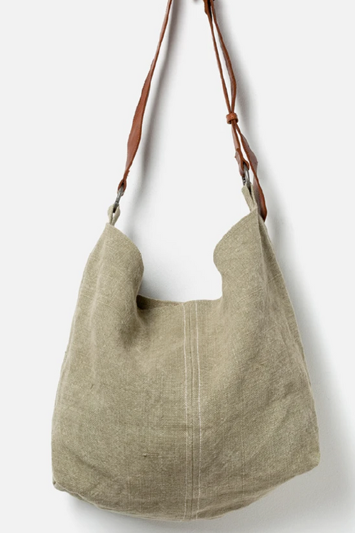 Beach Jute Slouchy Bag - Khaki