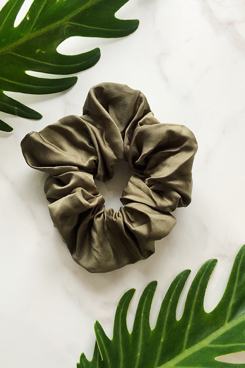 Khaki Sleep Scrunchie
