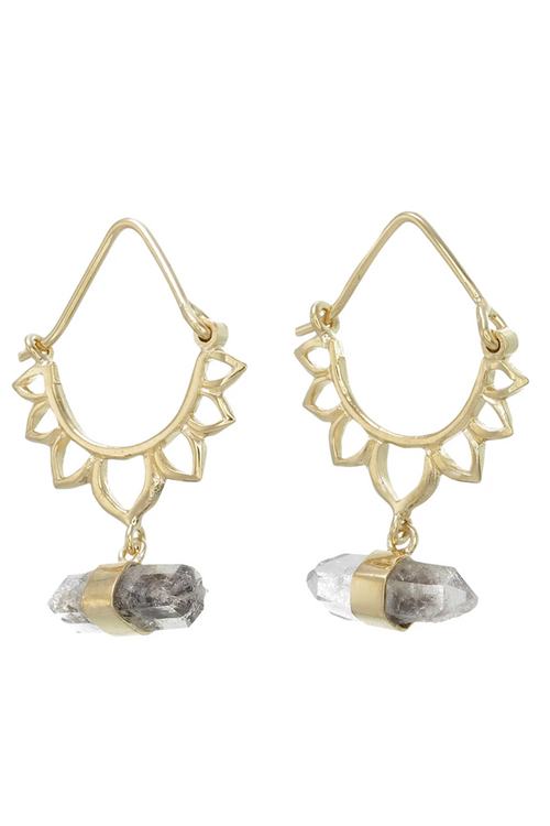 Tiger Jewellery Lotus Crystal Earrings