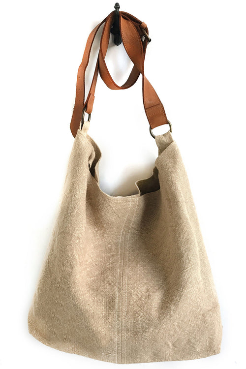 Beach Jute Slouchy Bag - Natural