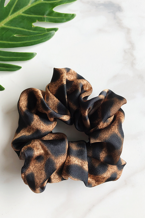 Thunderstruck Satin Scrunchie