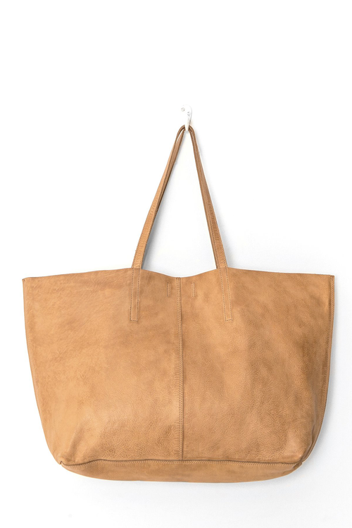 Juju & Co | Unlined Leather Tote - Natural