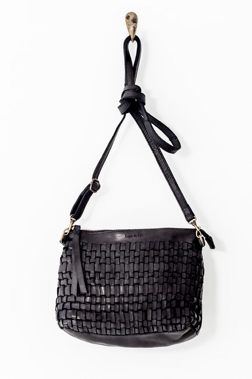 Juju & Co | Woven Pouch Bag - Black