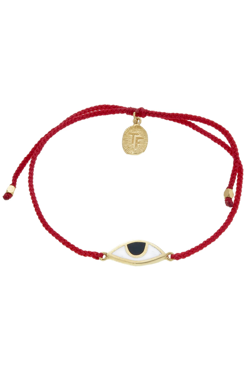 Eye Protection Bracelet - Red - Gold