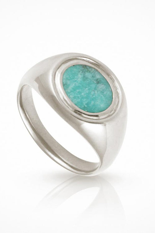 Temple Of The Sun | Kosmos Ring - Amazonite Silver