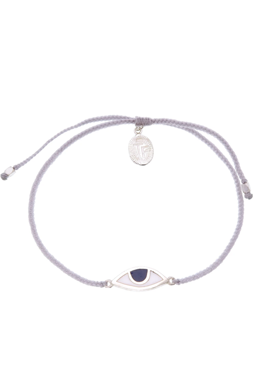 Eye Protection Bracelet - Pastel Grey - Silver