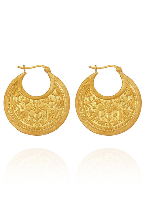 Peacock Earring - Gold