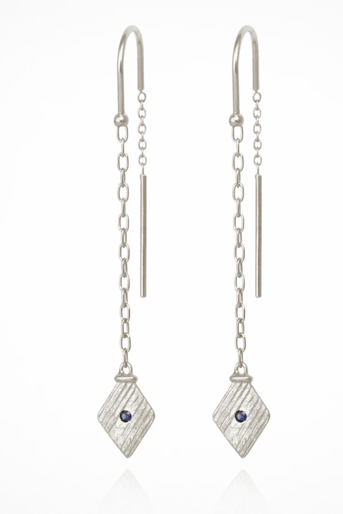Inka Earrings - Silver