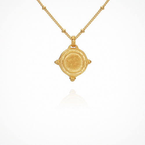 Temple Of The Sun | Petra Coin Necklace - Gold
