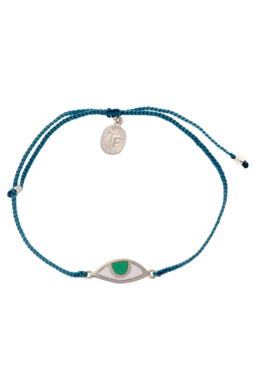 Eye Protection Bracelet - Teal Green - Silver
