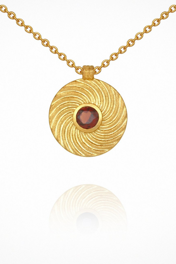 Temple Of The Sun | Shine Necklace - Garnet Gold