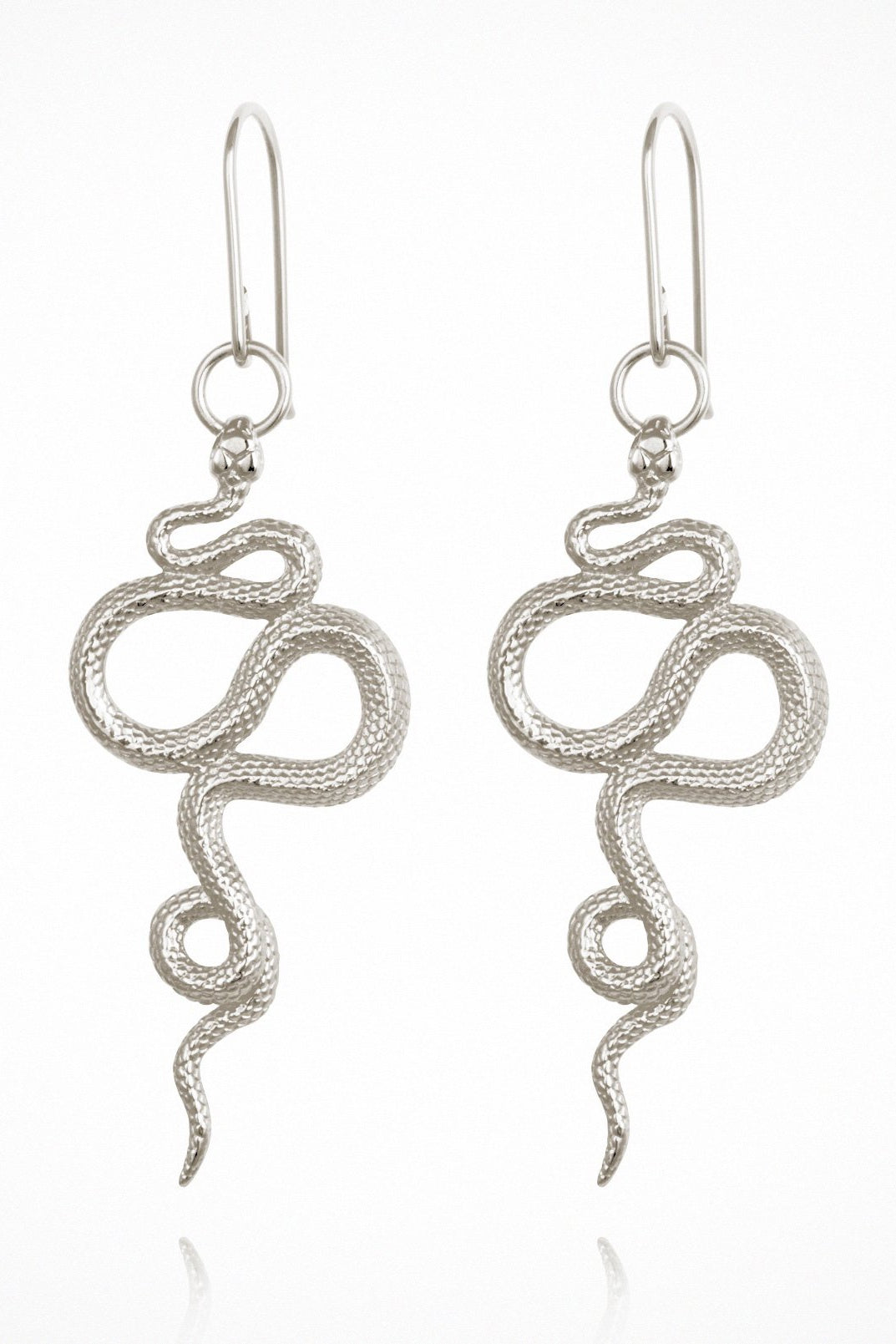 Snake Earrings - Silver