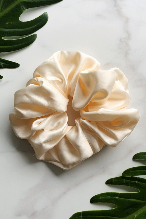 Cream Sleep Scrunchie