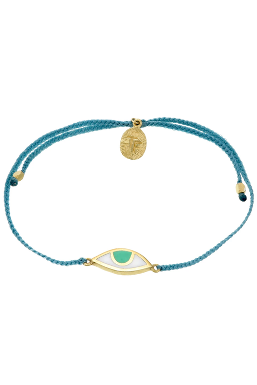 Eye Protection Bracelet - Teal Green - Gold