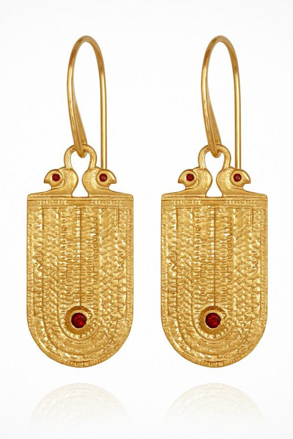 Temple Of The Sun | Seth Earrings - Gold