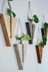 Triangular Wall Decor - Walnut Stain