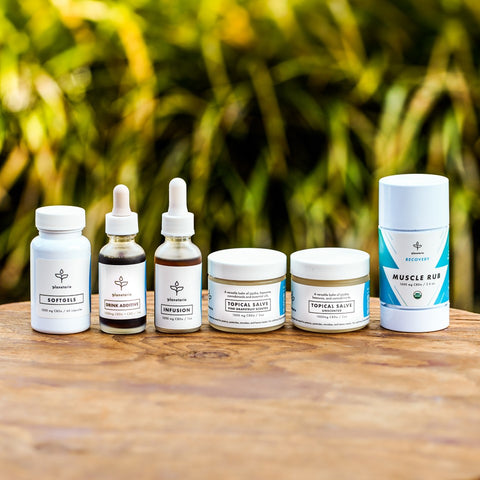 Planetarie offers several delivery methods for its CBDa, including through soft gel capsules, sublingual infusions, drink additives, topical salves and a muscle rub.
