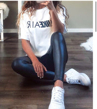 Load image into Gallery viewer, Black Pu leggings